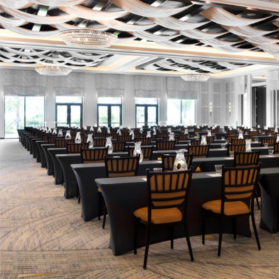 Acoustical Wall Panel in a Ballroom